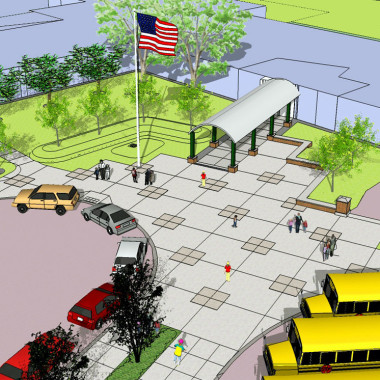 Cicero North Syracuse CSD- Smith Rd ES - Sketchup