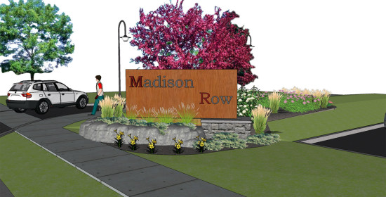Madison Row Sketchup of Sign
